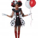 Size: X-Large #00586 Harley Quinn Gothic Creepy Clown Girl Child Costume