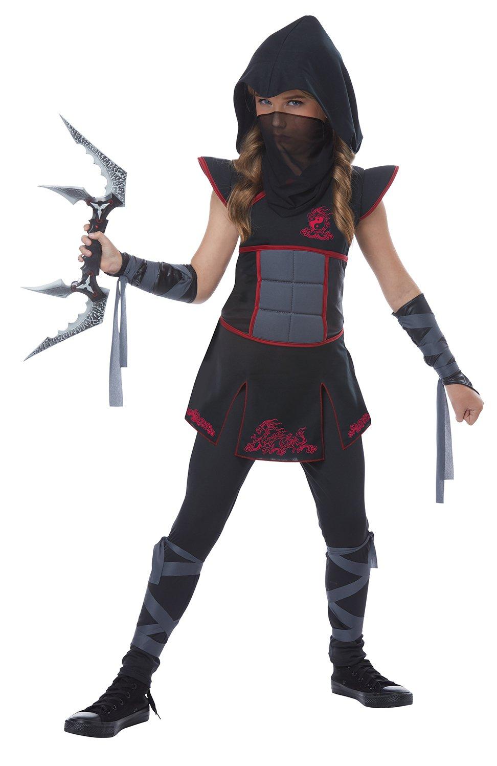 Size: Medium #00568 Samurai Stealth Fearless Ninja Girl Child Costume