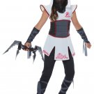 Size: Medium #00567 Samurai Stealth Fearless Ninja Girl Child Costume