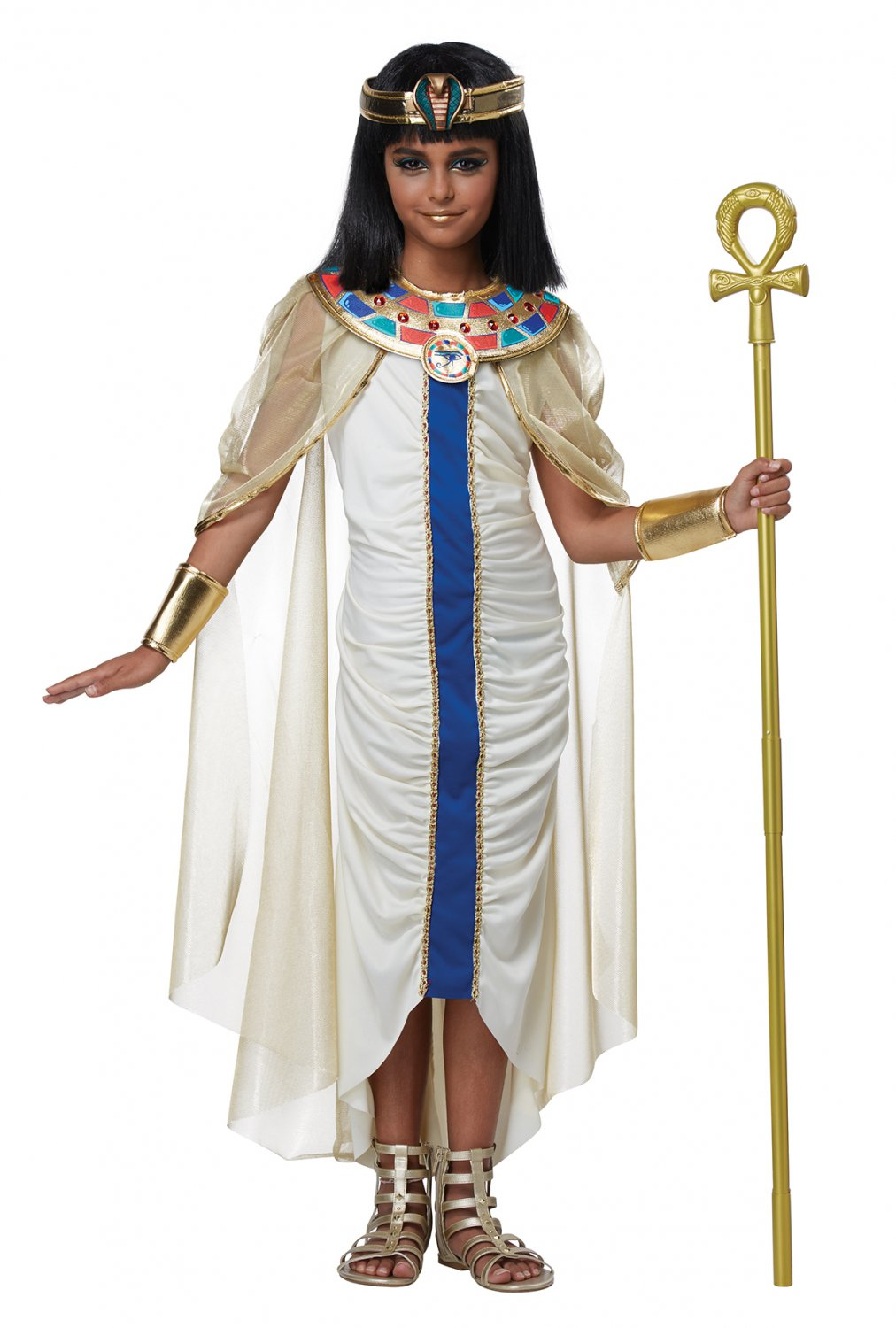 Size: Large #00580 Egyptian Nile Princess Queen Cleopatra Girl Child Costume