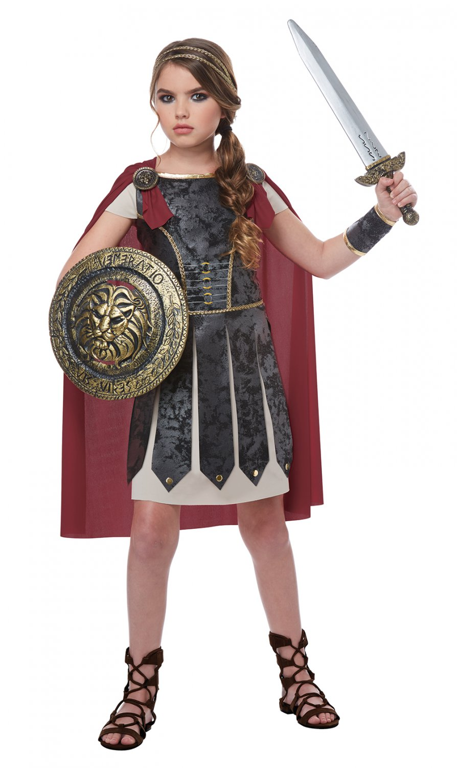 Size: Large #00576  Centurion Spartan Warrior Trojan Fearless Gladiator Girl Child Costume