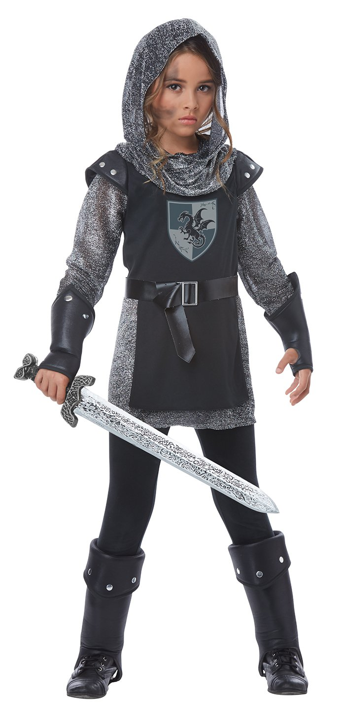 Size: Small #00574 Medieval Noble Knight Warrior Girl Child Costume
