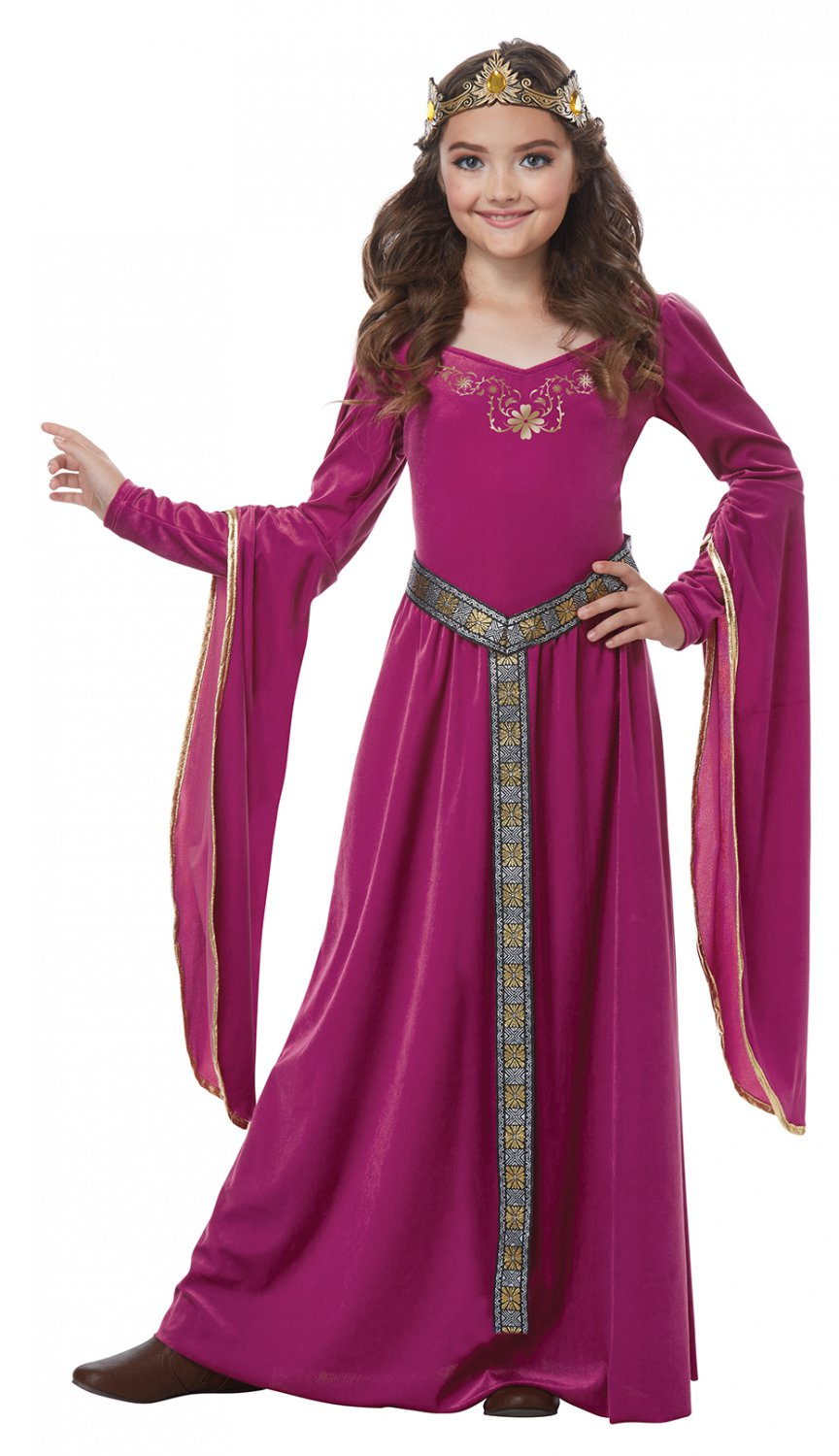 Size: Large #00572 Game of Thrones Medieval Princess Renaissance  Girl Child Costume