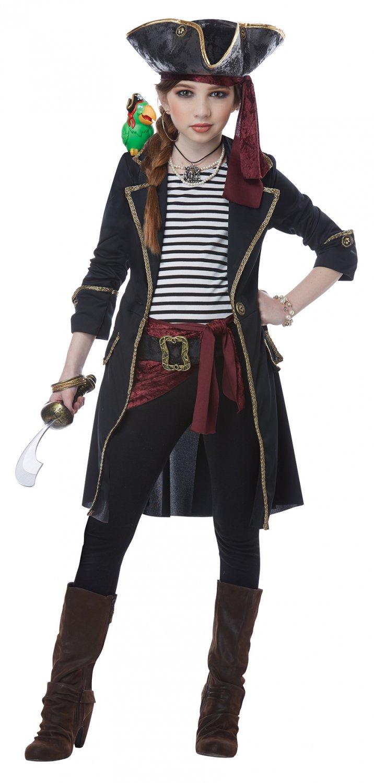 Size: Small #00583 Raider High Seas Captain Pirate Buccaneers Girl Child Costume