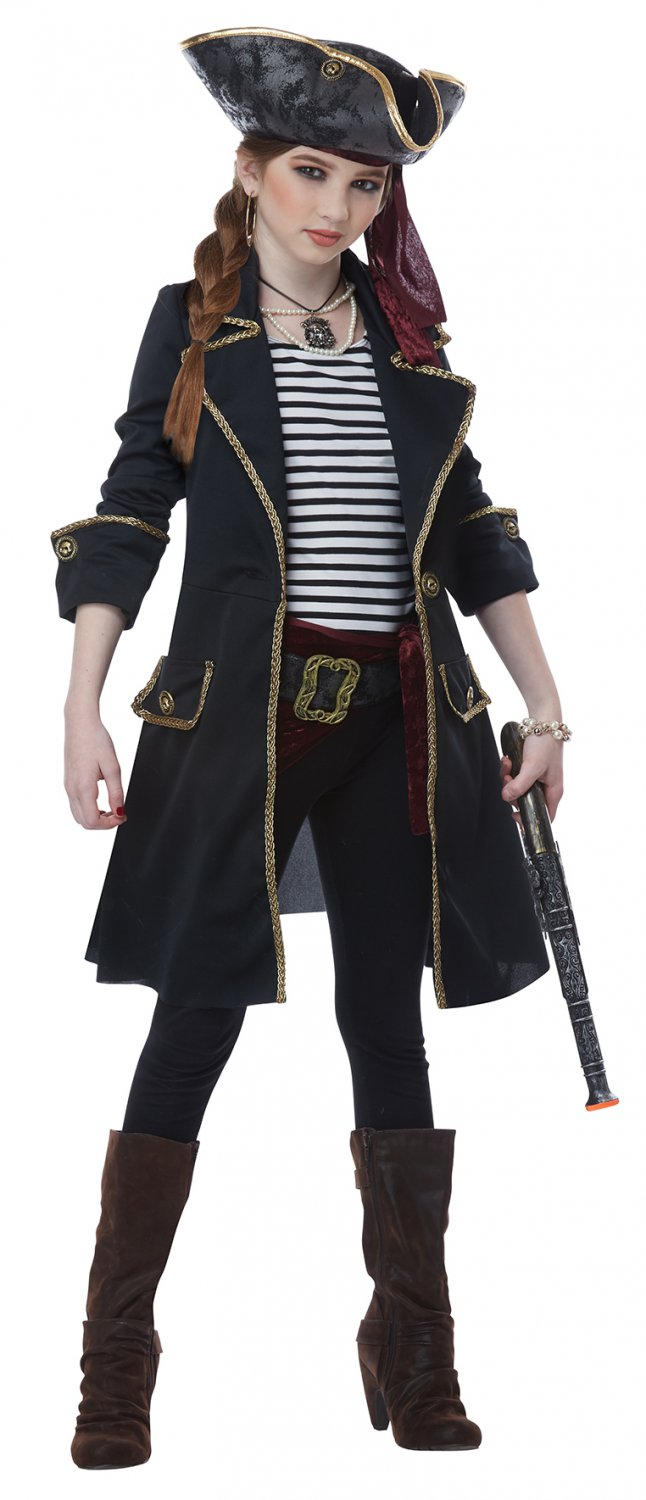 Size: Medium #00583 Pirates of the Caribbean High Seas Captain Buccaneers Girl Child Costume