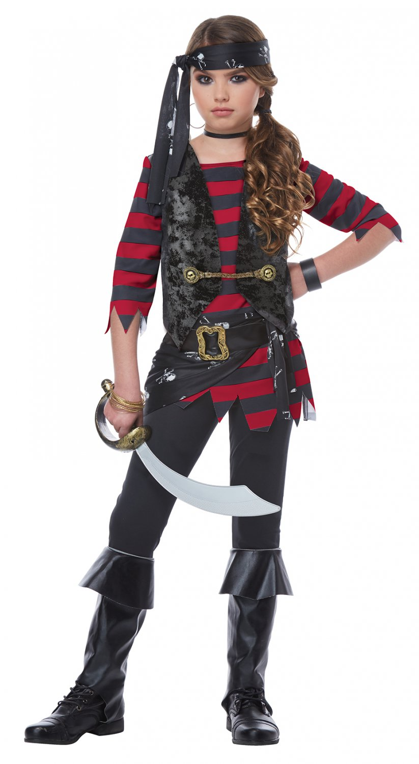 Size: Large #00577  Renegade Pirate of the Caribbean Raider Buccaneers Girl Child Costume