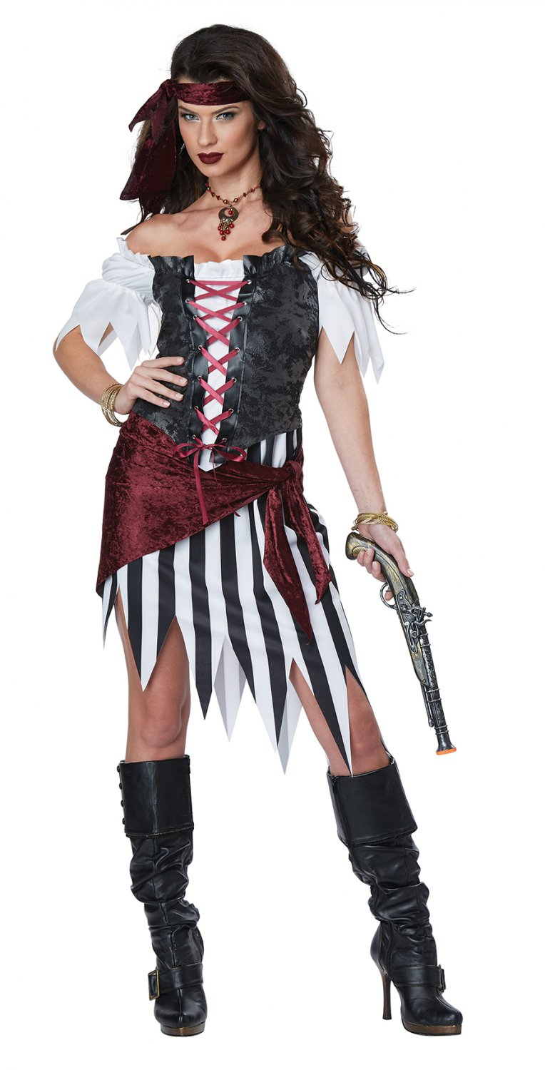 Size: Medium #01441  Pirate Beauty Buccaneers Swashbuckler Adult Costume