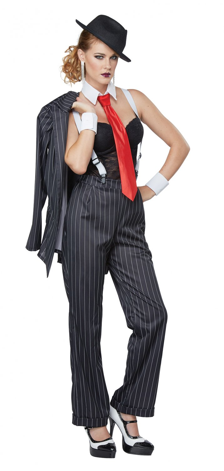 Size: X-Small #01447 Mafia Ms. Mobster Chicago Gangster Adult Costume