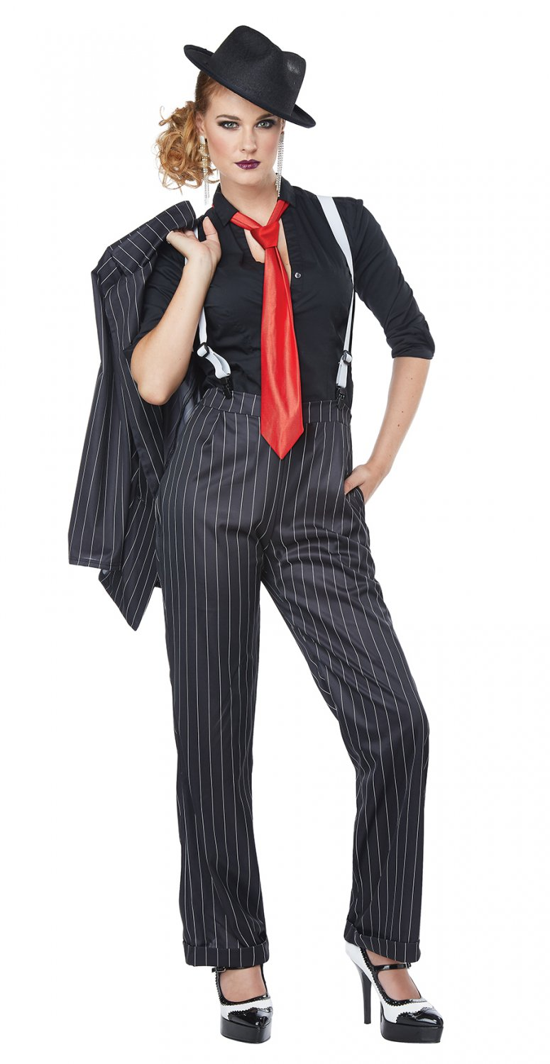 Size: Small #01447 1920's Ms. Mobster New York Mafia Gangster Adult Costume