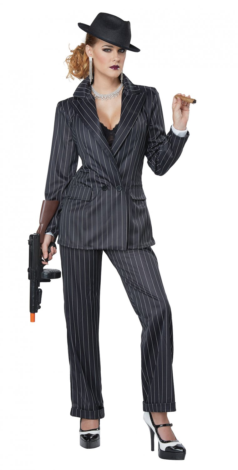 Size: Large #01447  Ms. Mobster 1920's Gangster Mafia Adult Costume