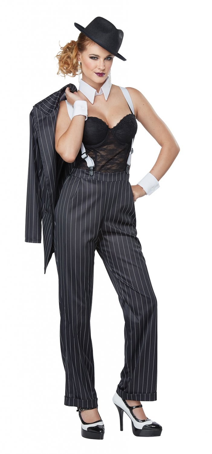 Size: X-Large #01447  Gangster Ms. Mobster 1920's Mafia Adult Costume