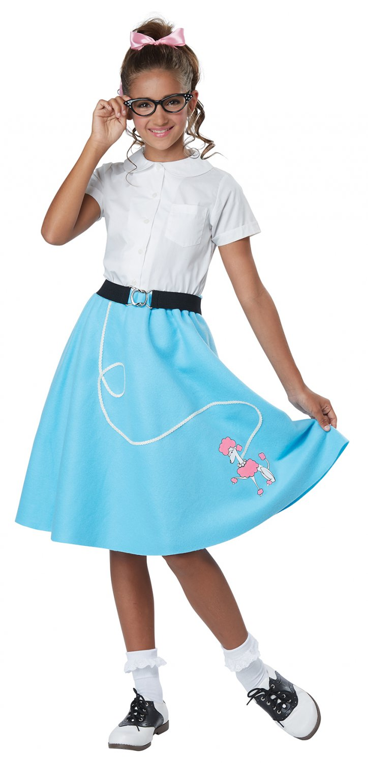 Size: Small/Medium #00627 Grease 50's Poodle Skirt Child Costume