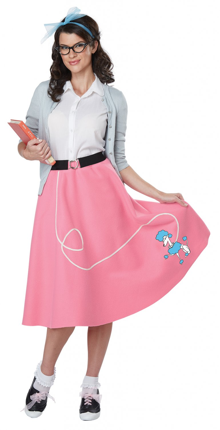 Size: Large/X-Large #01466  50's Poodle Skirt Grease Sandy Adult Costume