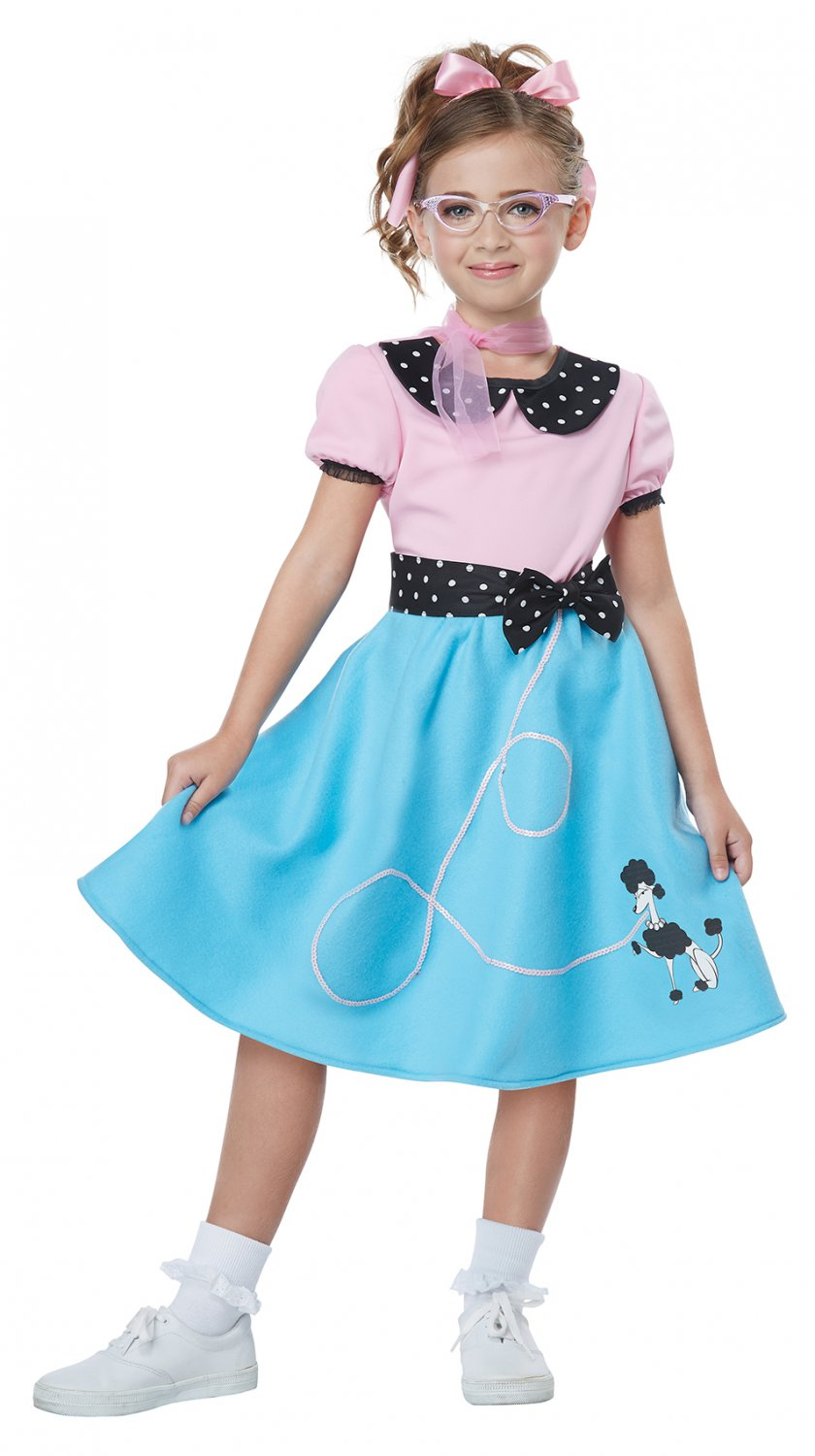 Size: Small #00626  Sandy Grease 50's Sock Hop Dress Child Costume