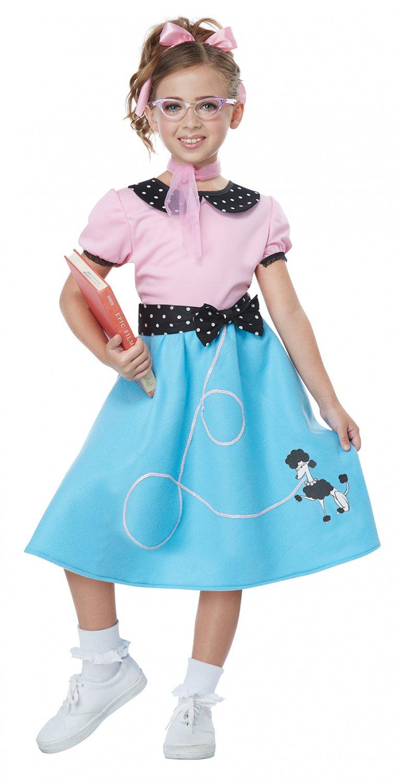 Size: Medium #00626  50's Sock Hop Dress Sandy Grease Child Costume