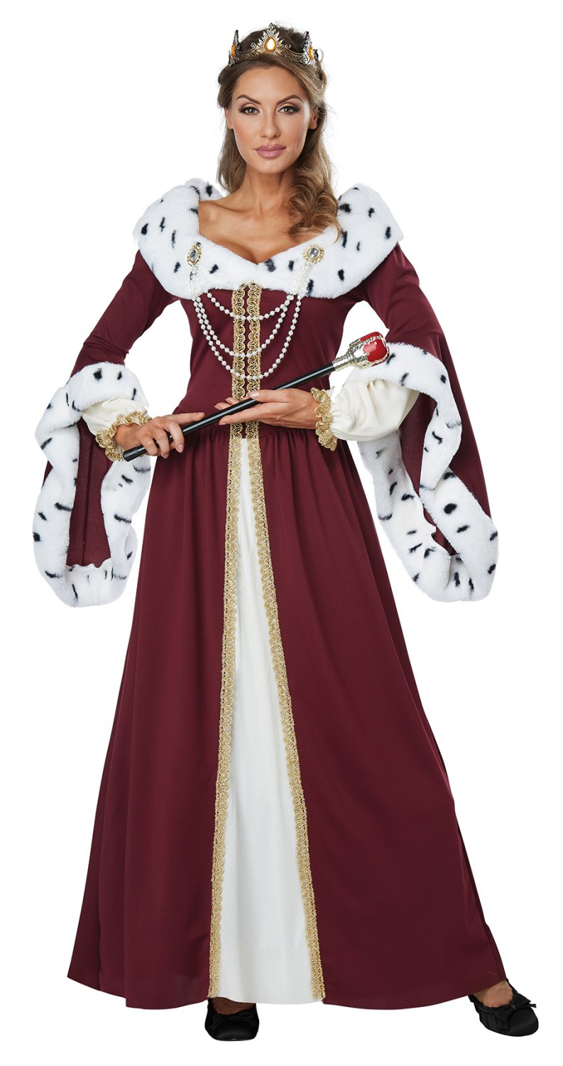 Size: X-Large #01460 Medieval Times Royal Storybook Queen of Heart Adult Costume