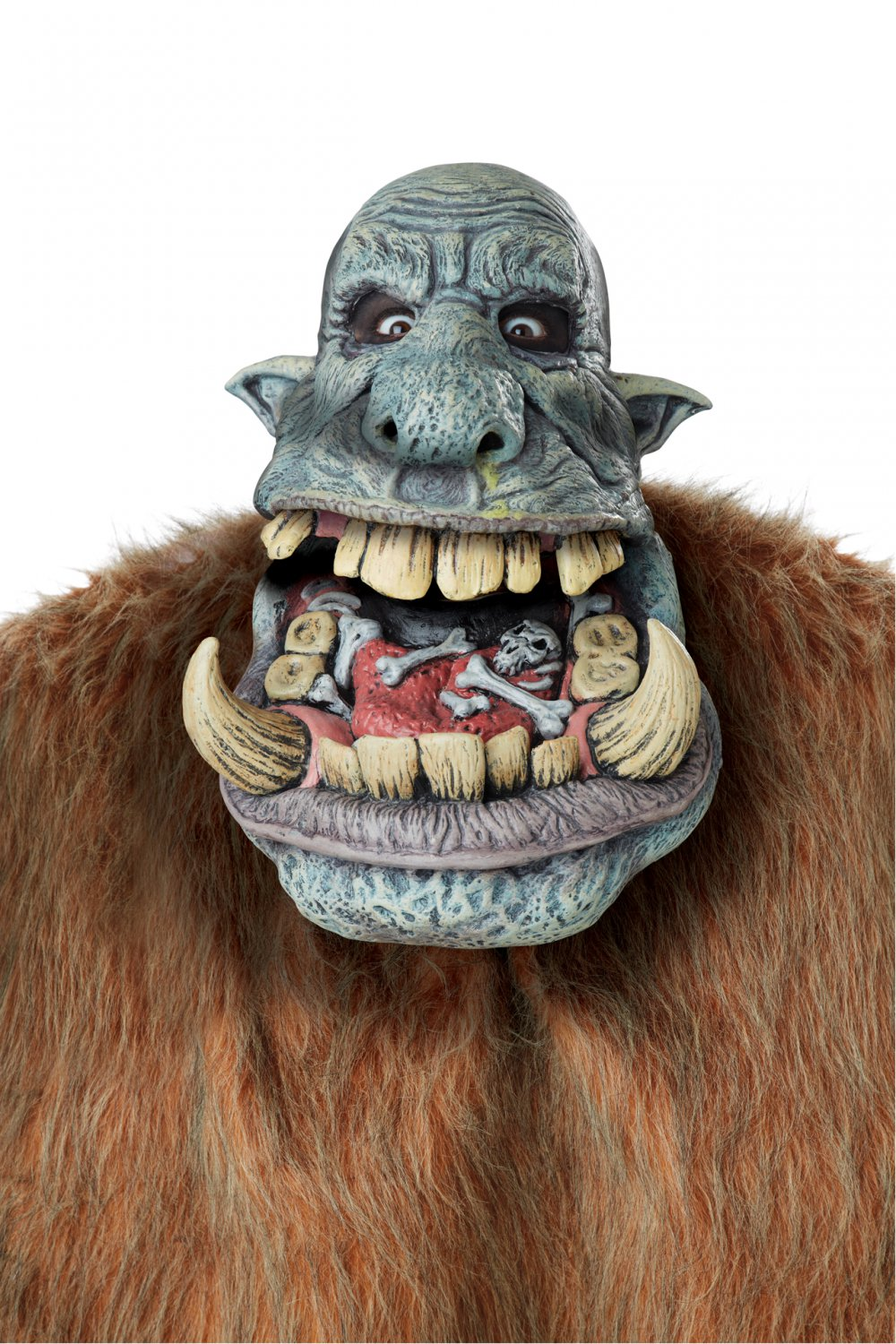 Standard Size: #60615  Savage Warrior Barbarian Battle Troll Big Mouth Adult Costume Mask