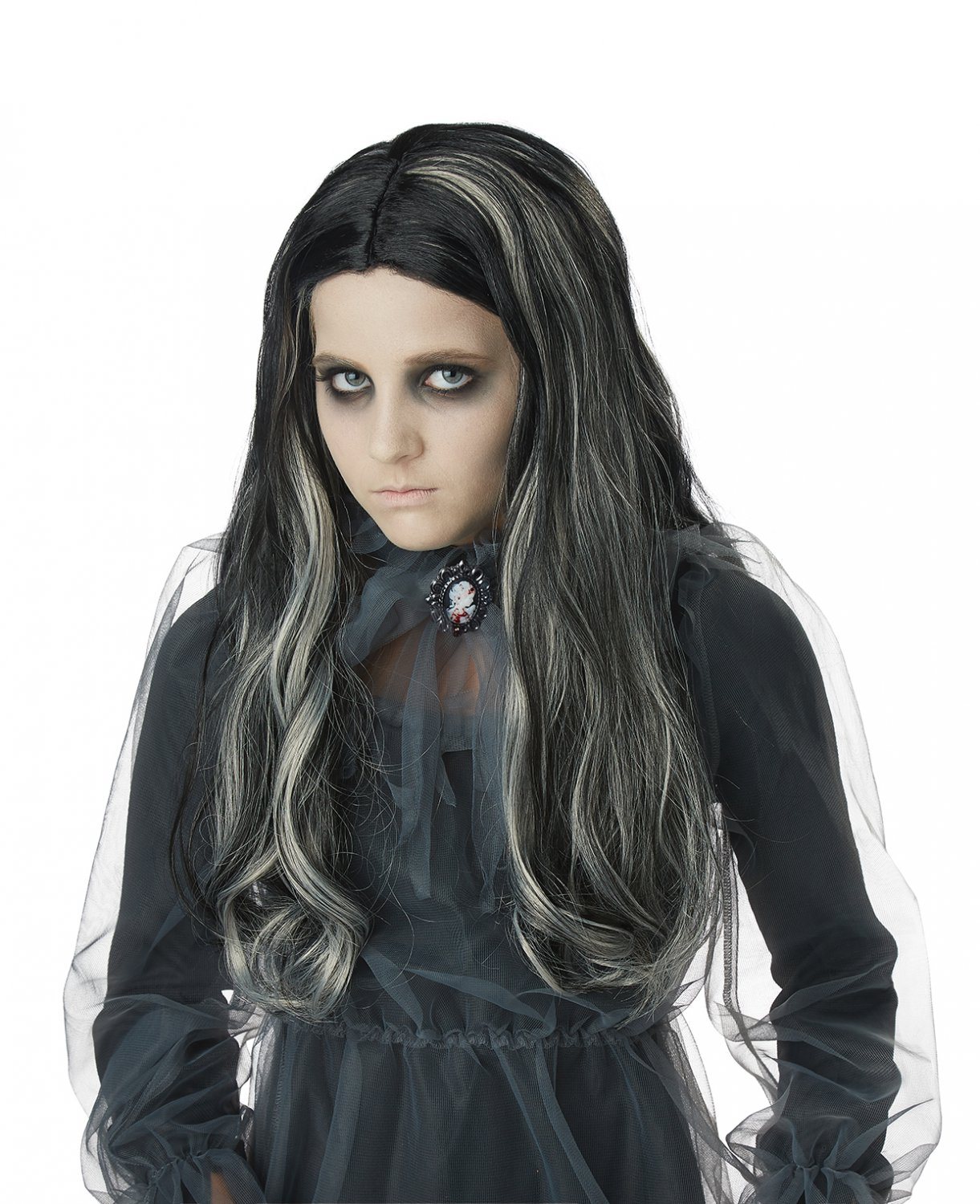 #70890 Ghothic Ghost Demon Bloody Mary Child Costume Wig