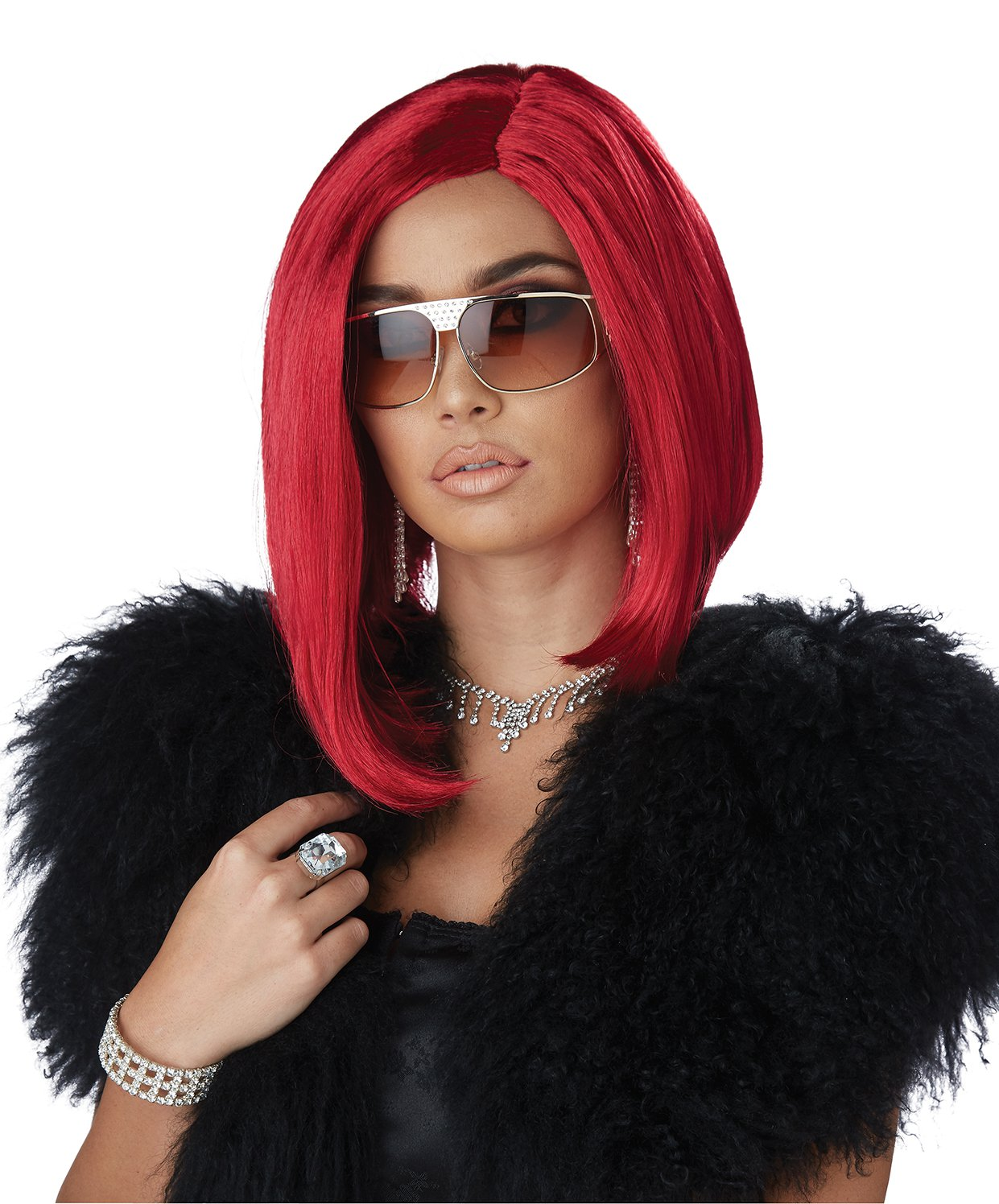 #70875 Punk Rock Fireball Da Boss Red Costume Accessory Wig