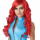 #70872   Sexy DC Pop Art Superhero Red Costume Accessory Wig