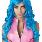 #70873  DC Marvel Cosplay Pop Art Superhero Blue Costume Accessory Wig