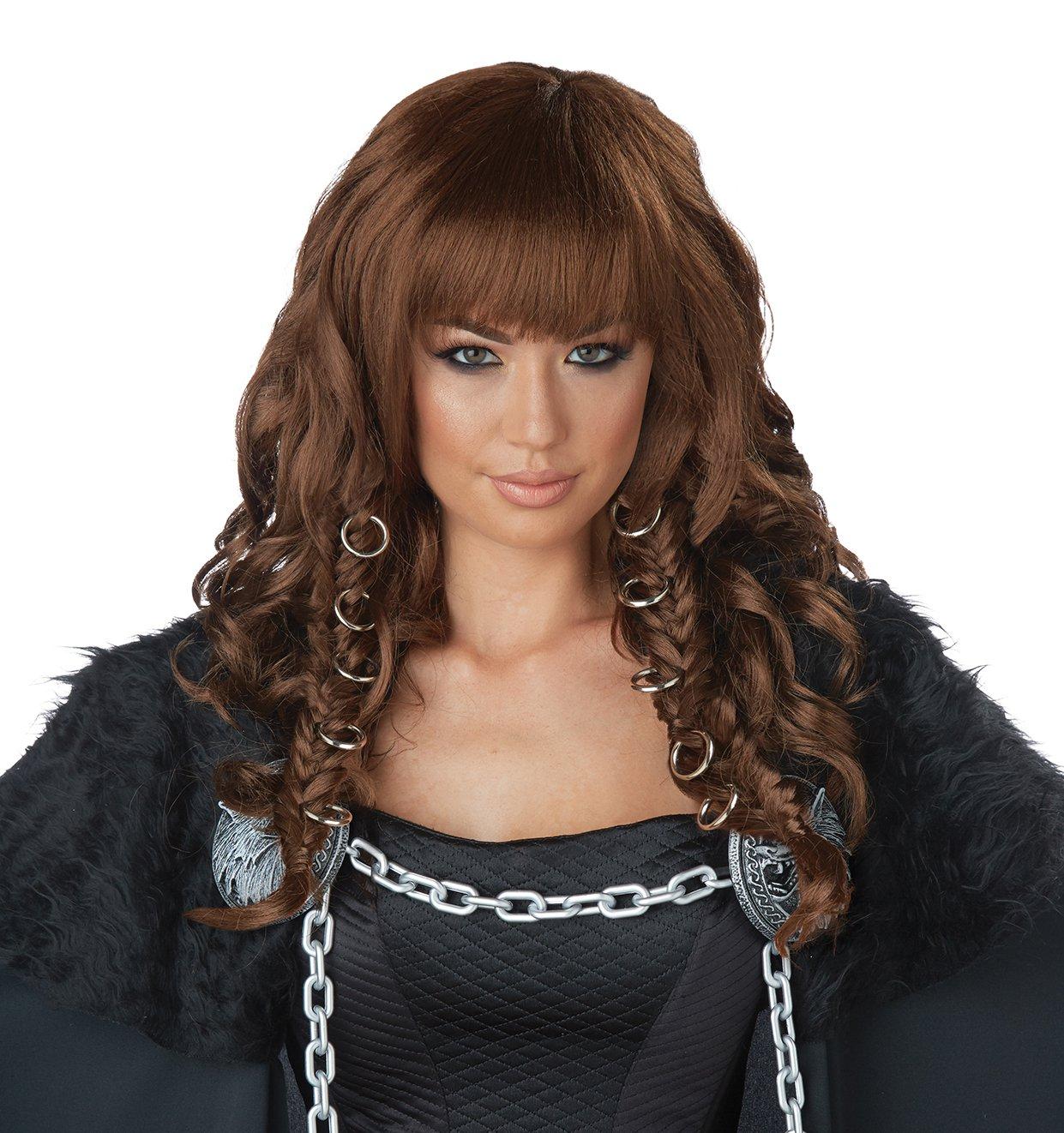 #70894  Renaissance King of Thrones Viking Warrior Queen Costume Accessory Wig