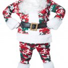 Size: Small/Medium #01403 Christmas Military Camo Santa Claus Deluxe Suit  Adult Costume