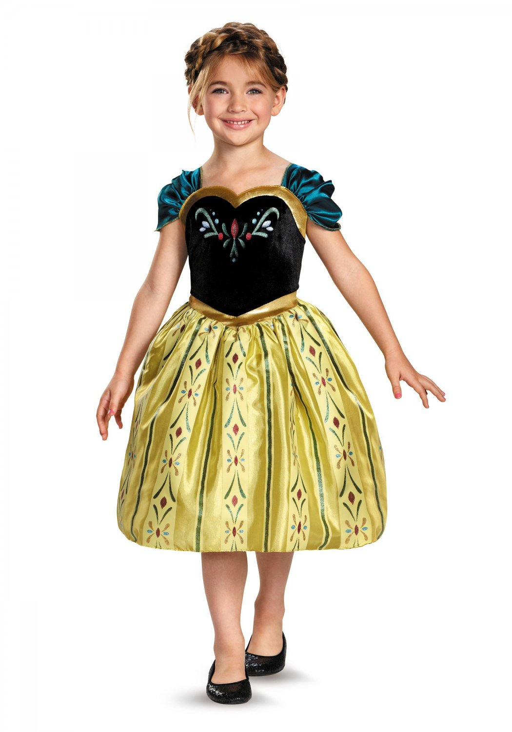 Size: Medium #76903M Disney Princess Frozen Anna Coronation Gown Child Costume