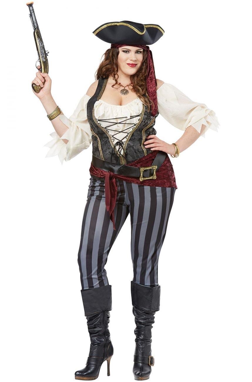Plus Size: 2X-Large  #01772  Sexy Brazen Buccaneer Pirate Swashbuckler Adult Costume