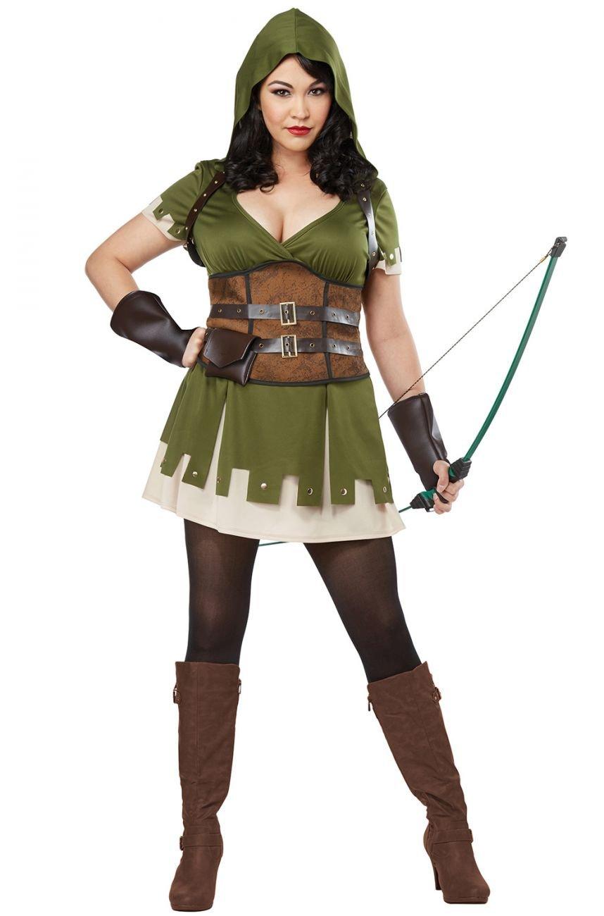 Plus Size Costume: 1X-Large #01771 Renaissance Lady Robin Hood Adult Costume