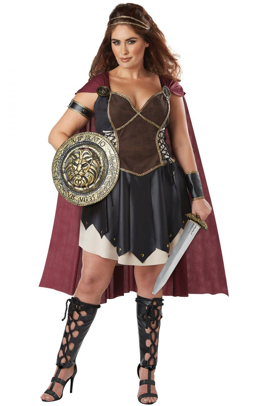 Plus Size: 1X-Large #01775 Glorious Gladiator Spartan Warrior Queen Adult Costume