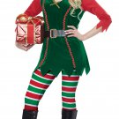 Size: Large #01493  Santa Claus Christmas Festive Elf Workshop Adult Costume
