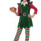 Size: Large #00604  Festive Elf Christmas Santa Claus Workshop Child Costume