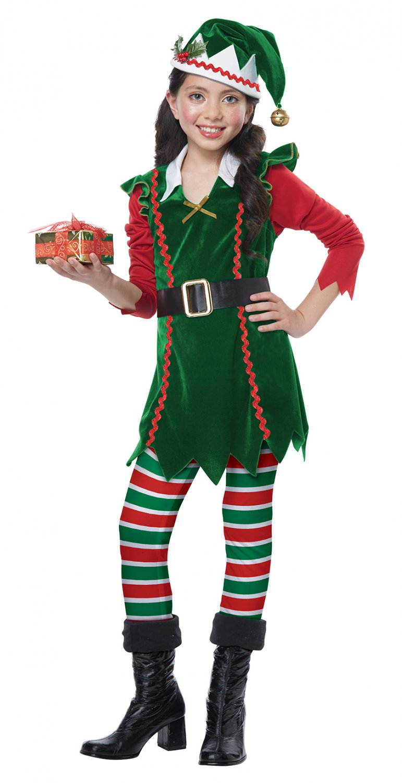 Size: X-Small #00604 Christmas Festive Elf Santa Claus Workshop Child Costume