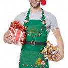 One Standard Size #01495 Santa Claus Christmas Workshop Elf Adult Apron Costume