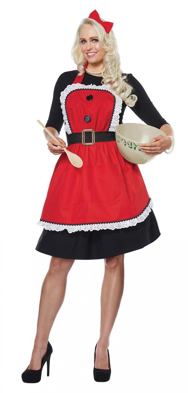 One Standard Size #01498 Mrs. Santa Claus Christmas Adult Apron Costume