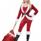 Size: Small #01492  Sassy Santa Claus Christmas Workshop Adult Costume