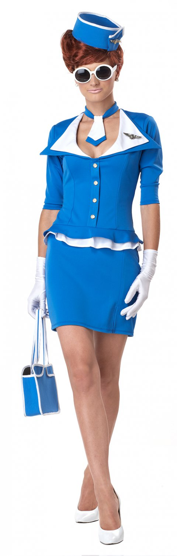 Size: 3X #1209 Sexy Airplane Retro Stewardess Adult Pluse Size Costume