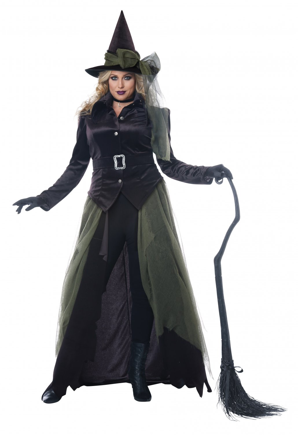 Plus Size: 1X-Large  #01791 Wicked Dark Gothic Witch of Salem Adult Costume