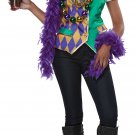Size: Small/Medium #60735  New Orleans Mardi Gras Woman Adult Costume Vest Kit