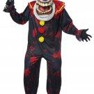 One Standard Size # 01436 IT Psycho Jester Crazy Killer Clown Joker Die Laughing Adult Costume
