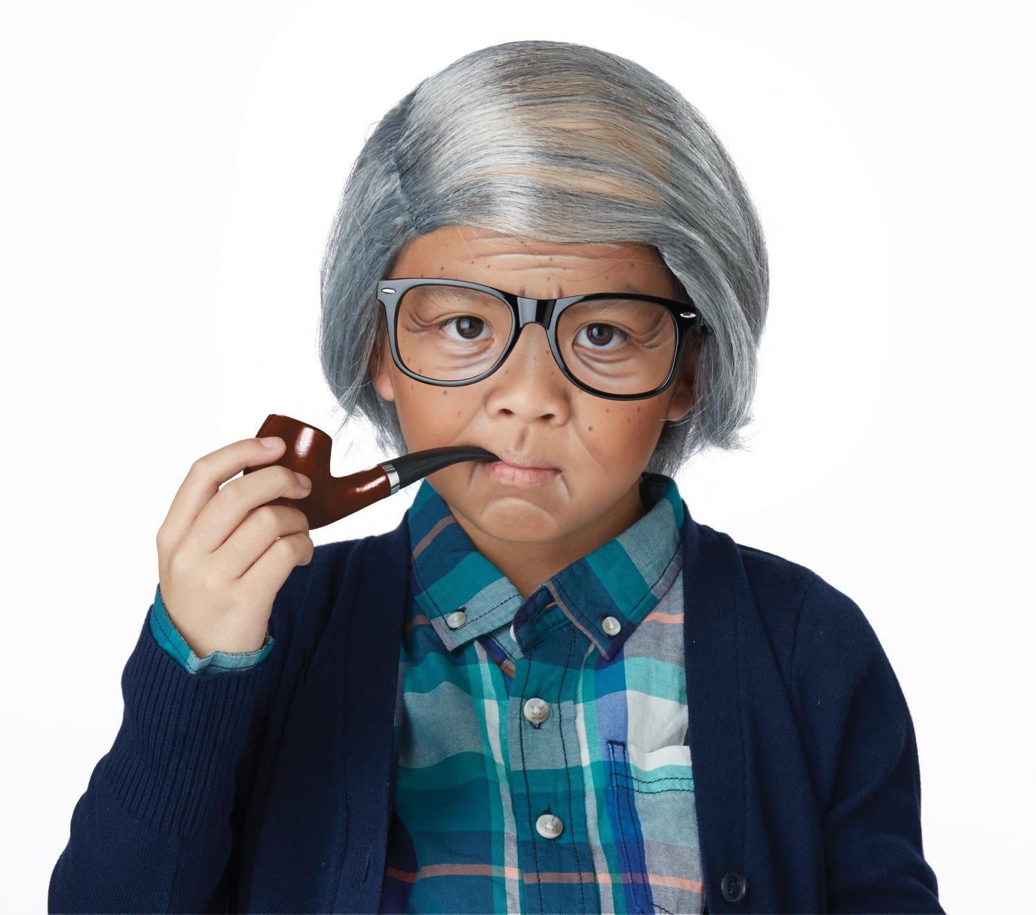 One Size Fits Most #60737 Rude Grandpa Old Man Combover Kit 100 Days of School  Child Costume