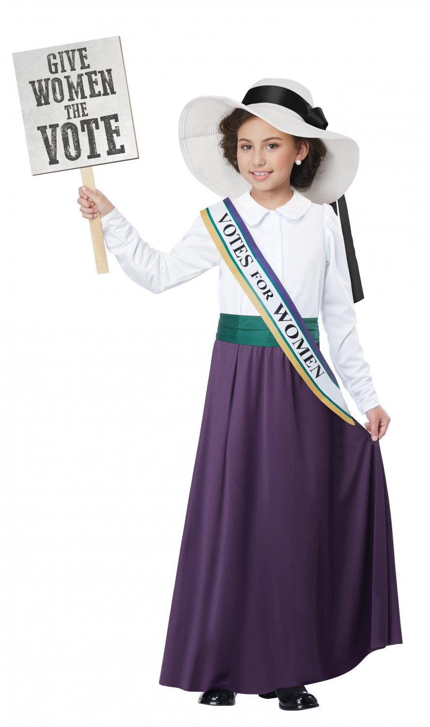 Size: Large #00600 Femanism 1920's American Suffragette Child Costume