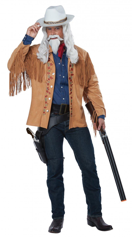Size: Large/X-Large # 01529 Western Buffalo Bill Frontier Man Davy Crockett 1800's  Adult Costume