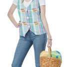 Size: Small/Medium #60732  Easter Bunny Rabbit Woman Adult Costume Vest Kit