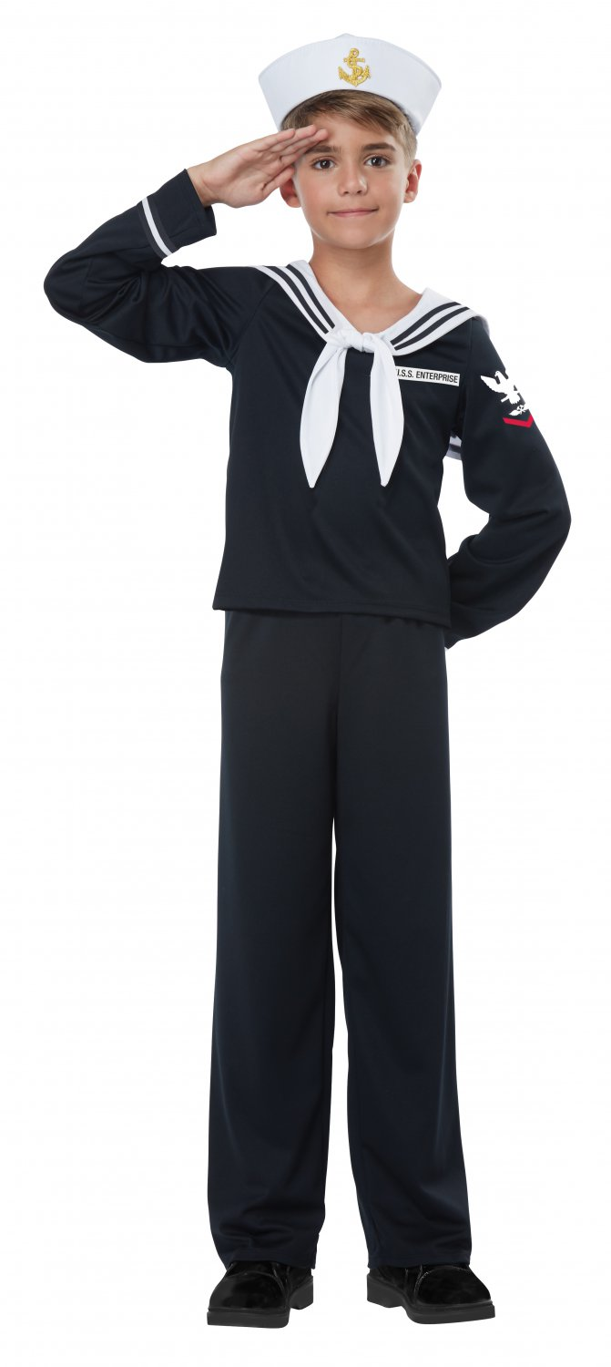 Size: X-Small #00550 Captain Navy Sailor Boy Military Marine Child Costume