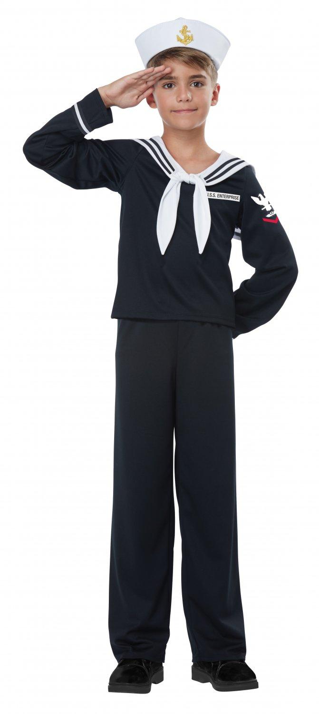 Size: X-Large #00550   Navy Sailor Boy Captain Military Marine Child Costume