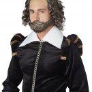 #70923 William Shakespeare English Poet Actor Adult Costume Wig