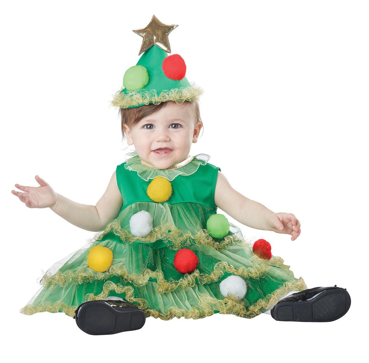 Size: Medium #10041  Little Christmas Tree Santa Claus Infant Toddler Child Costume