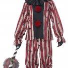 Size: Medium #01283 Creepy Killer IT Nighmare Clown Adult Costume